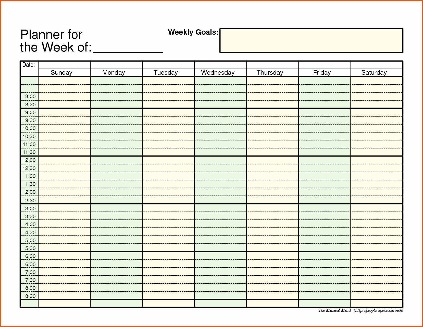 Week Schedule Template Pdf Luxury Weekly Schedule Template Pdf