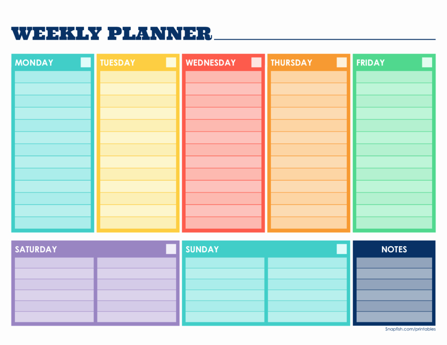 Week Schedule Template Pdf New 2019 Weekly Planner Template Fillable Printable Pdf