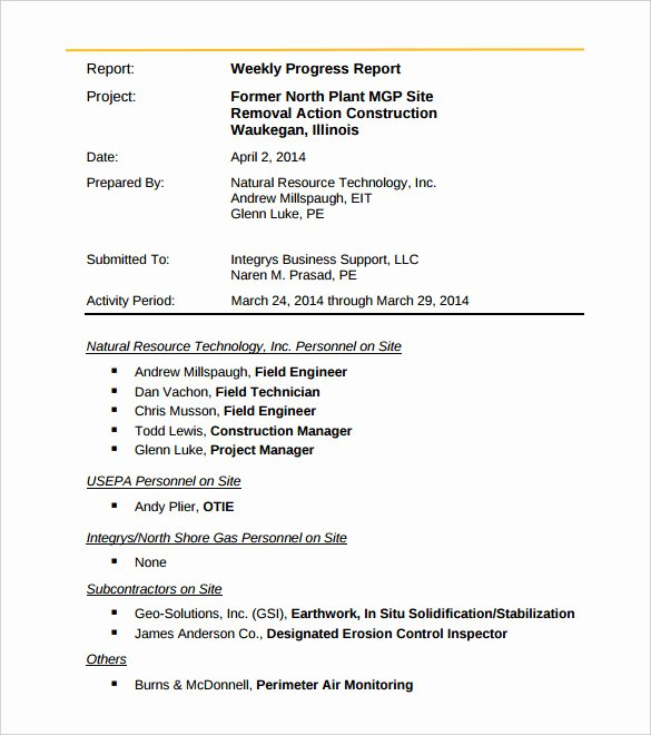 Weekly Activities Report Template Beautiful 33 Weekly Activity Report Templates Pdf Doc