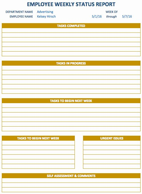 Weekly Activities Report Template Inspirational Free Weekly Schedule Templates for Excel Smartsheet