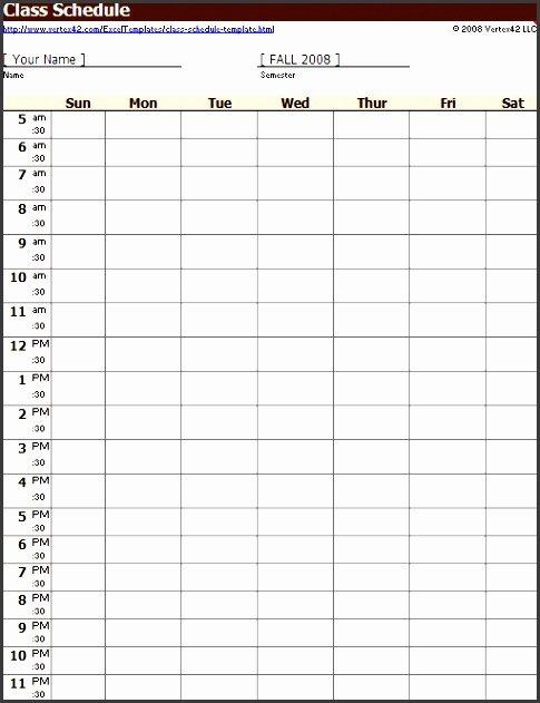 Weekly Class Schedule Template Fresh 10 Class Schedule Maker Sampletemplatess Sampletemplatess