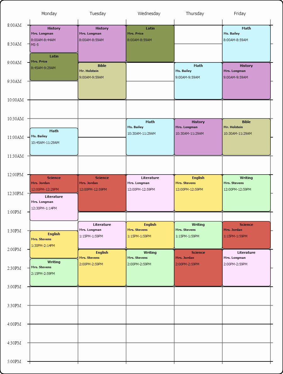 Weekly Class Schedule Template Luxury Line Weekly Class Scheduling Template I Used the Free
