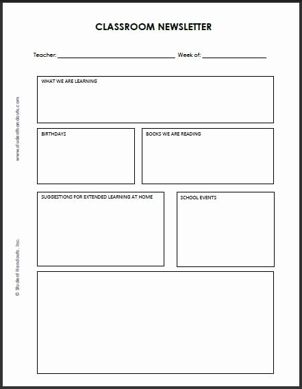 Weekly Classroom Newsletter Template Awesome 92 Best Images About Classroom Newsletter On Pinterest