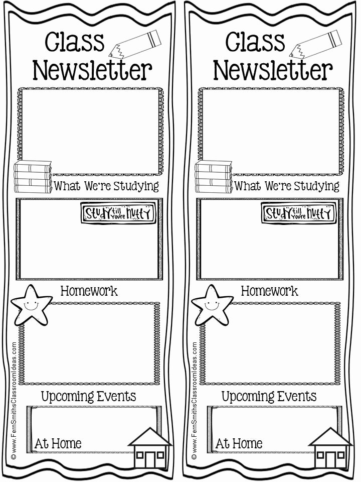 Weekly Classroom Newsletter Template Awesome Tuesday Teacher Tips Munication Fern Smith S