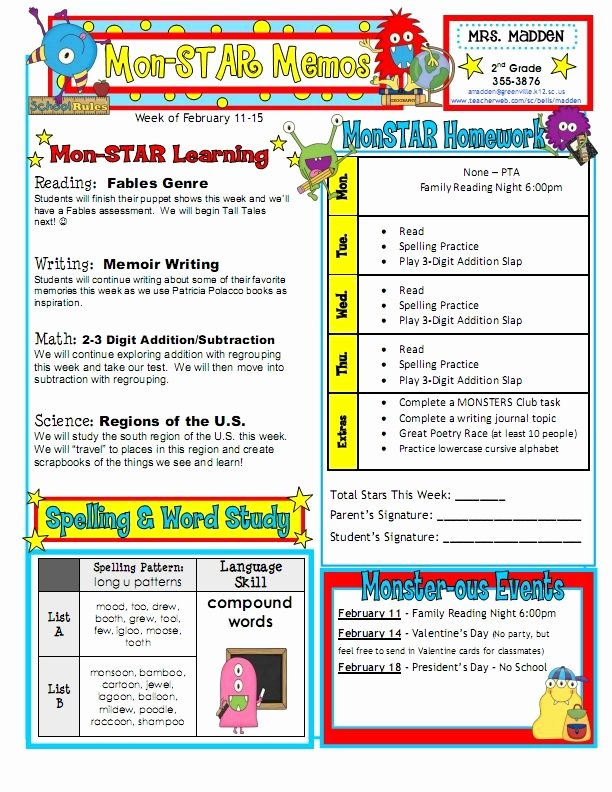 Weekly Classroom Newsletter Template Best Of 17 Best Ideas About Weekly Classroom Newsletter On
