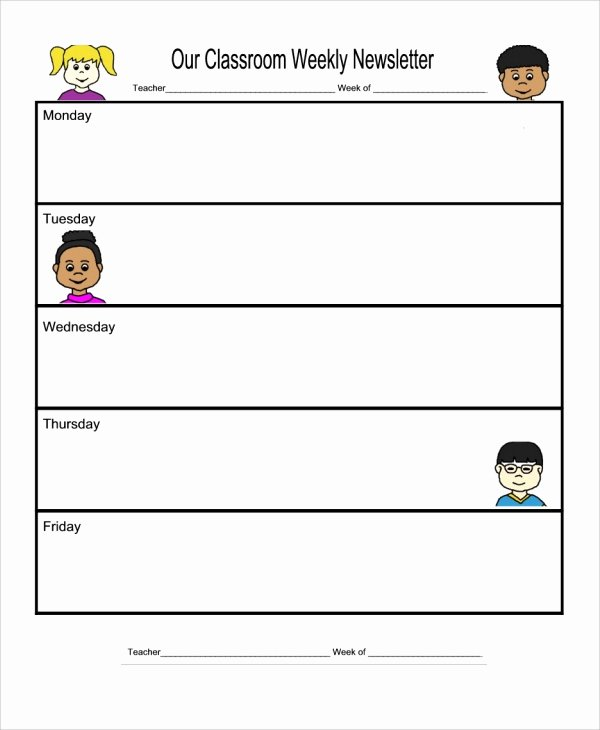 Weekly Classroom Newsletter Template Fresh 10 Weekly Newsletter Templates