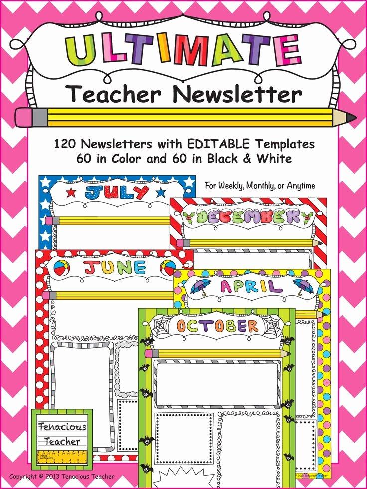 Weekly Classroom Newsletter Template Lovely the 25 Best Teacher Newsletter Ideas On Pinterest