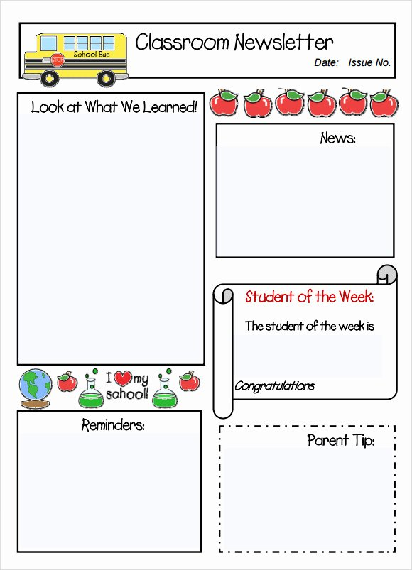 Weekly Classroom Newsletter Template New Classroom Newsletter Template 7 Free Download for Pdf Word