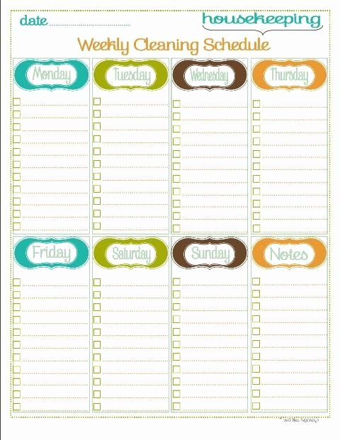 Weekly Cleaning Schedule Template Beautiful Weekly Schedule On Pinterest