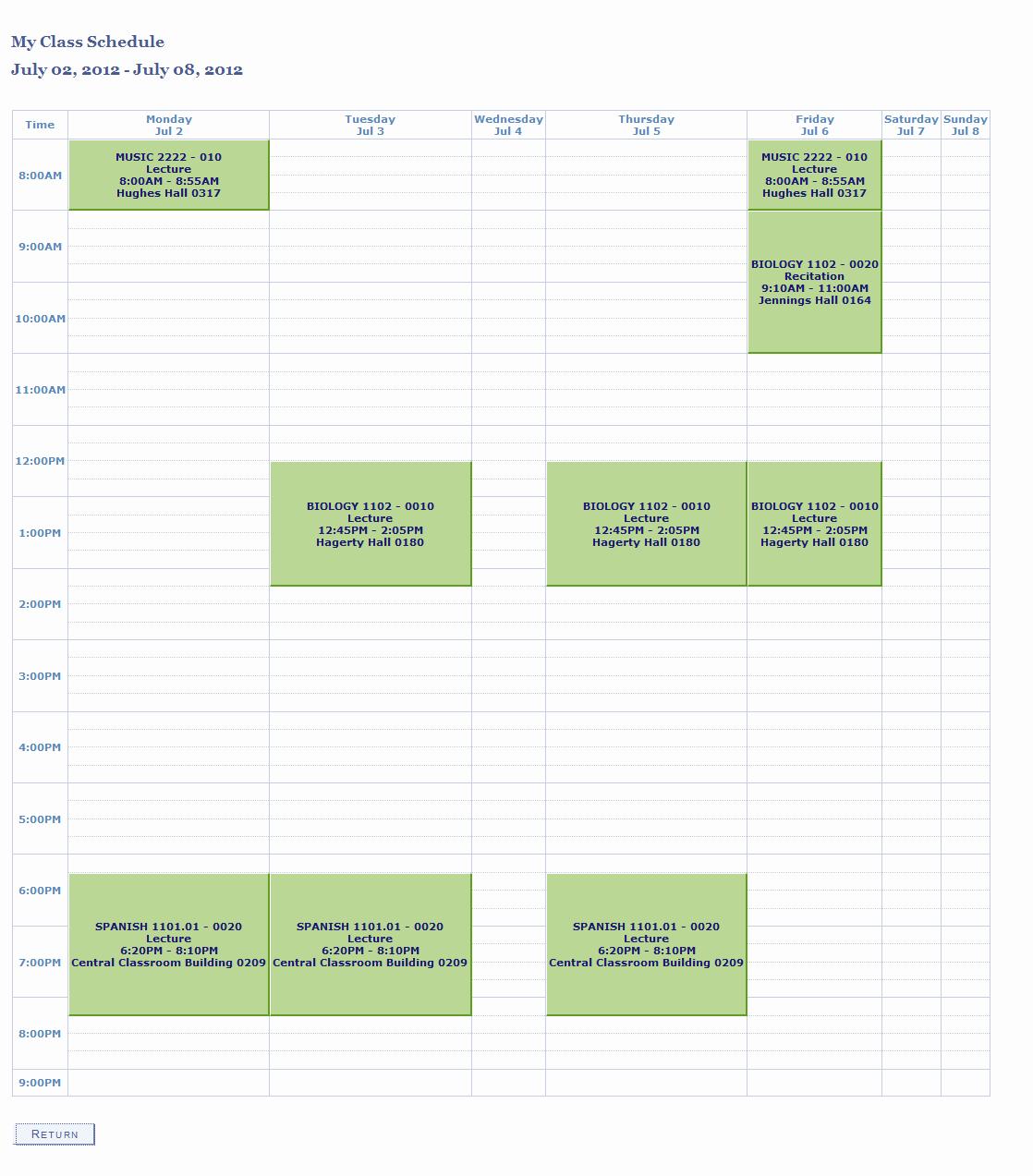 Weekly College Schedule Template Luxury Weekly Class Schedule Maker
