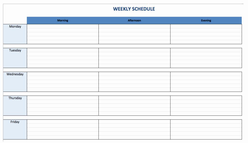 Weekly College Schedule Template Unique Weekly Schedule Maker