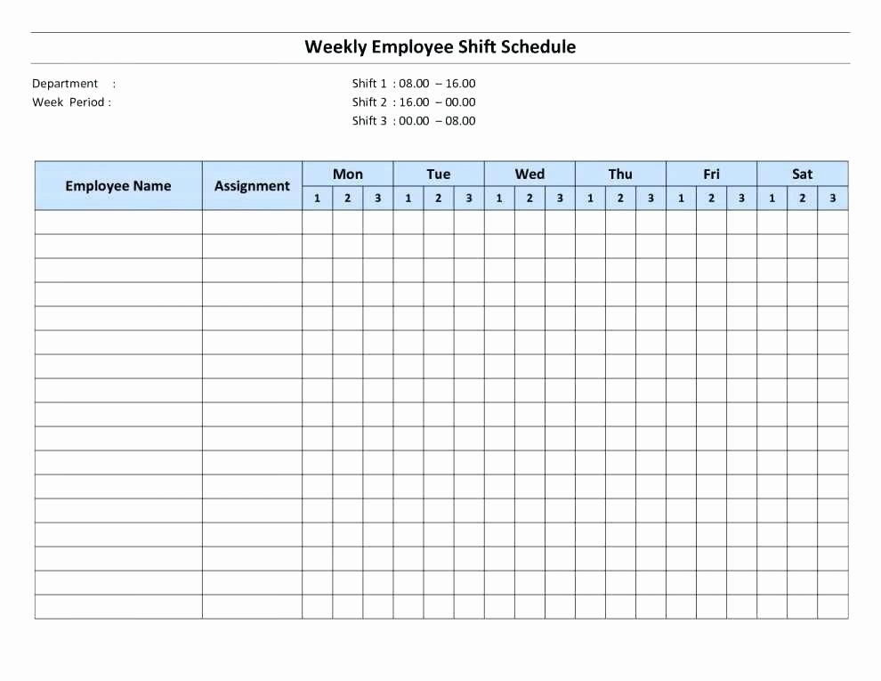 Weekly Employee Schedule Template Excel Best Of Excel Employee Schedule Monthly Staff Template Work