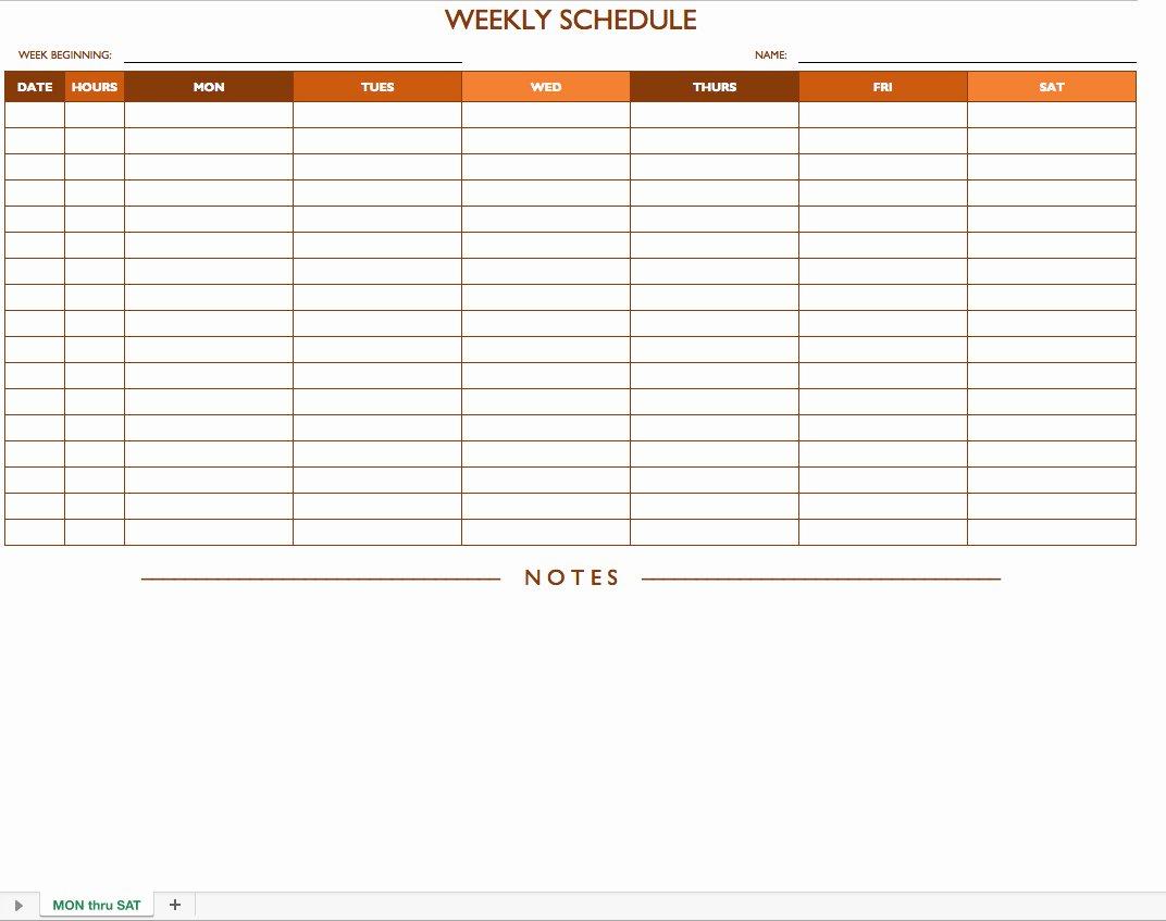 Weekly Employee Schedule Template Excel Luxury Free Work Schedule Templates for Word and Excel
