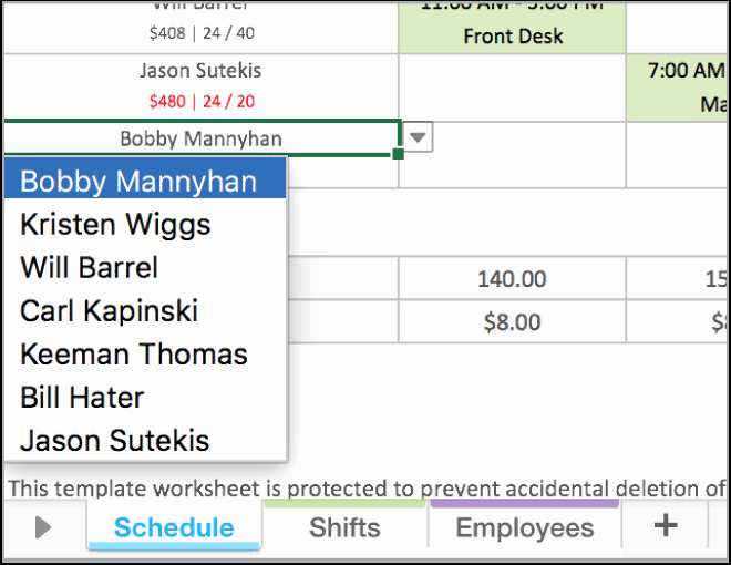 Weekly Employee Schedule Template Excel New Free Excel Employee Scheduling Template