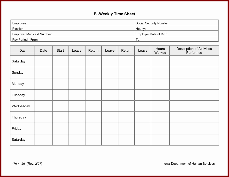 Weekly Employee Timesheet Template Beautiful Weekly Timesheet Template Excel Free Download Time