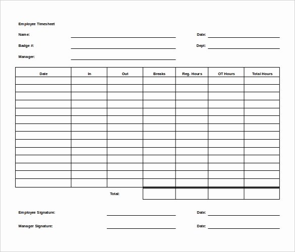 Weekly Employee Timesheet Template Best Of 27 Ms Word Timesheet Templates Free Download