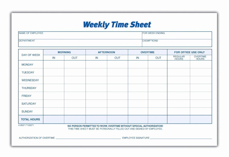 Weekly Employee Timesheet Template Inspirational 8 Best Of Blank Printable Timesheets Free