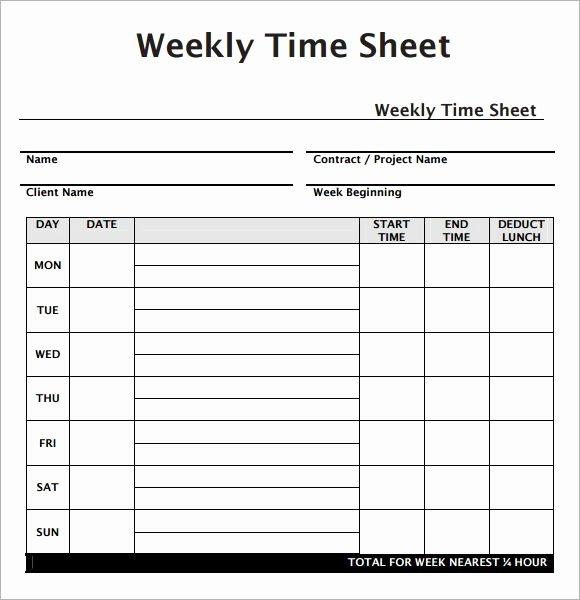 Weekly Employee Timesheet Template Luxury Weekly Employee Timesheet Template Work