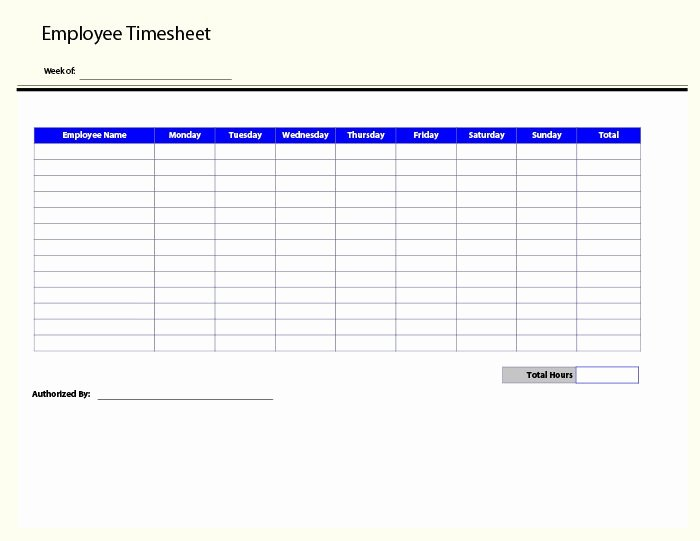 Weekly Employee Timesheet Template New 60 Sample Timesheet Templates Pdf Doc Excel
