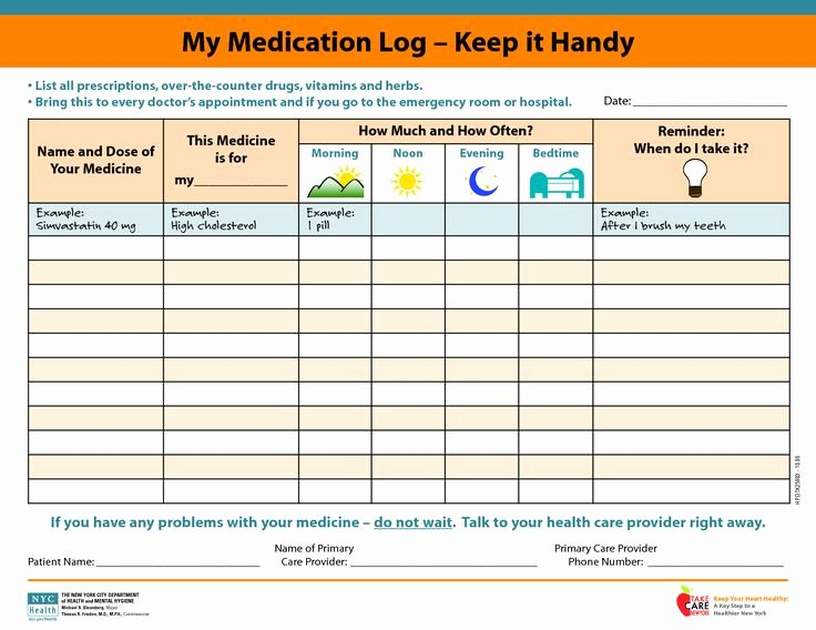 Weekly Medication Schedule Template Fresh Medicine Picture Schedule
