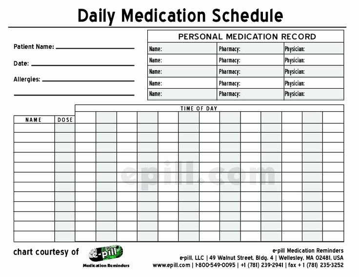 Weekly Medication Schedule Template Unique Free Daily Medication Schedule Free Daily Medication