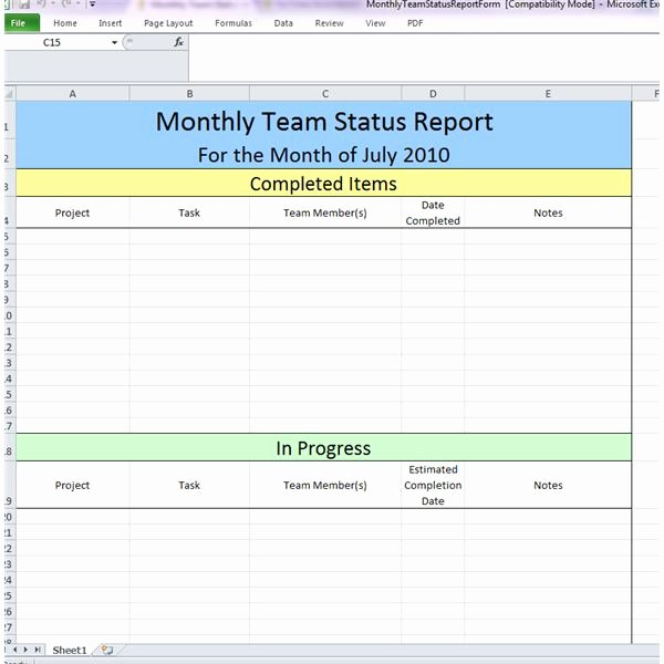 Weekly Project Status Report Template Elegant 23 Of Example Business Team Update Template
