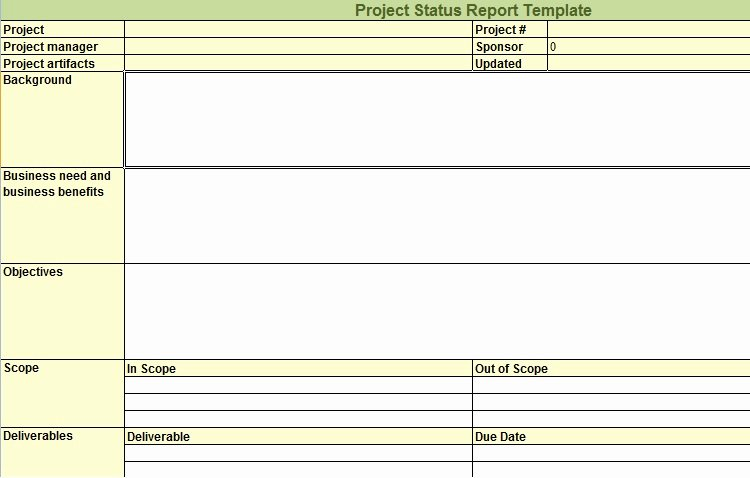 Weekly Project Status Report Template Fresh Weekly Project Status Report Template In Excel