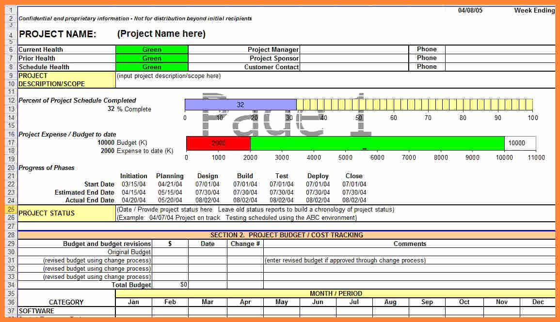 Weekly Project Status Report Template Lovely 9 Construction Project Progress Report Template