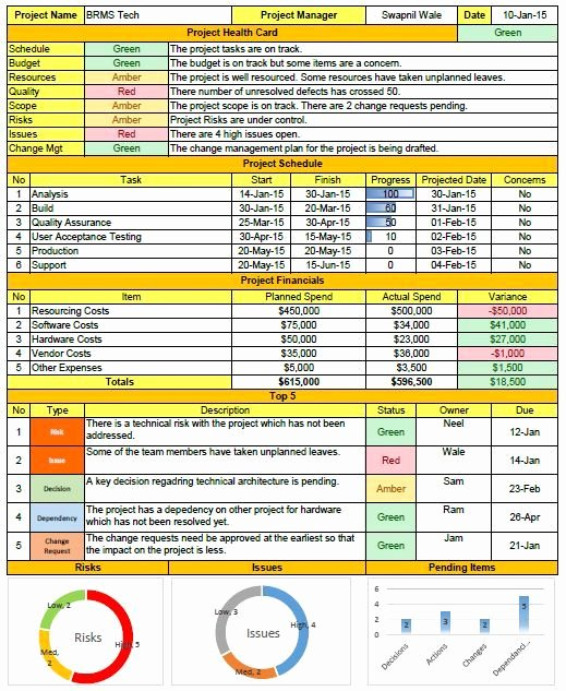 Weekly Project Status Report Template Luxury Weekly Status Report format Excel Download
