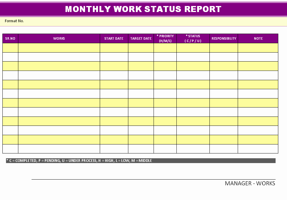 Weekly Report Template Excel Beautiful Excellent Monthly Report Template and Samples for Your