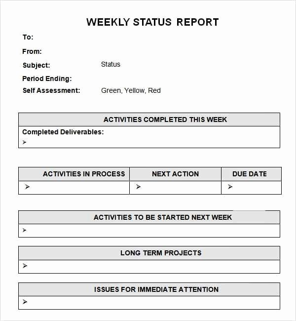Weekly Report Template Excel Best Of 7 Weekly Status Report Templates Word Excel Pdf formats