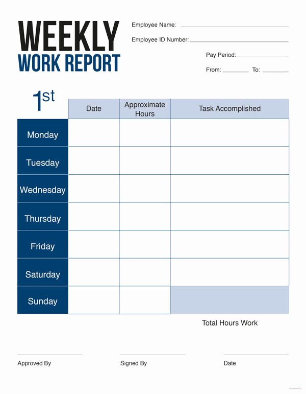 Weekly Report Template Excel Fresh Weekly Sales Report 5 Free Excel Pdf Documents Download
