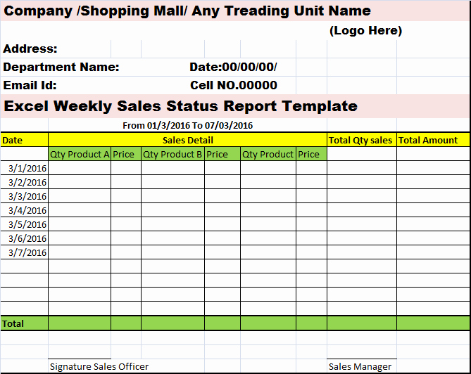 Weekly Report Template Excel Luxury Collection Of Free Report formats and Examples