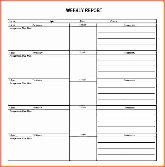 Weekly Report Template Excel Unique 5 Weekly Status Report Template Excel Exceltemplates