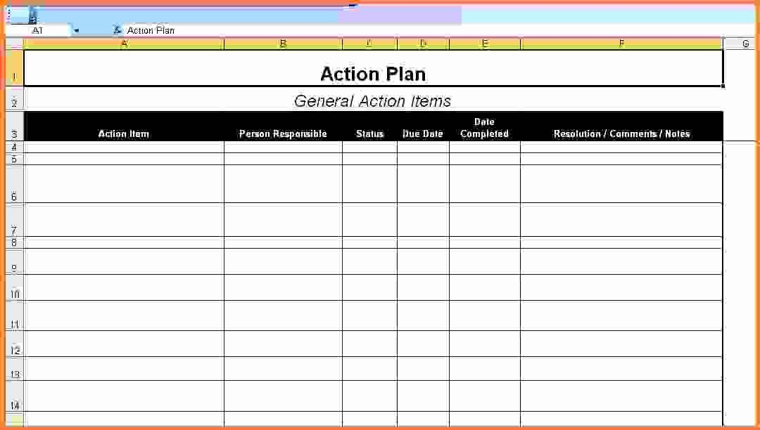 Weekly Sales Plan Template Fresh Action Plan Template Exceltion Sales Report