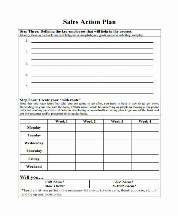 Weekly Sales Plan Template New 38 Sample Sales Plan