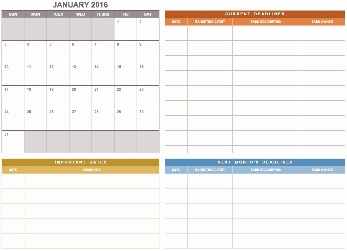 Weekly Sales Plan Template New Free Marketing Plan Templates for Excel Smartsheet
