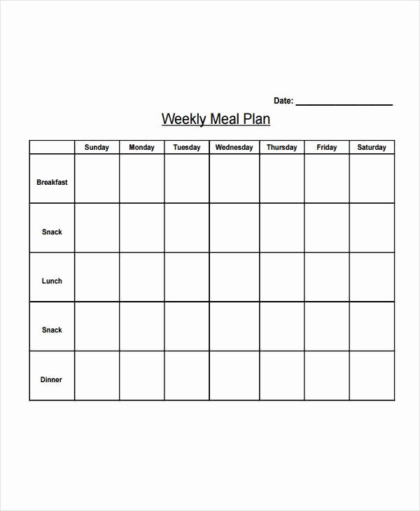 Weekly Sales Plan Template Unique 19 Meal Plan Templates – Pdf