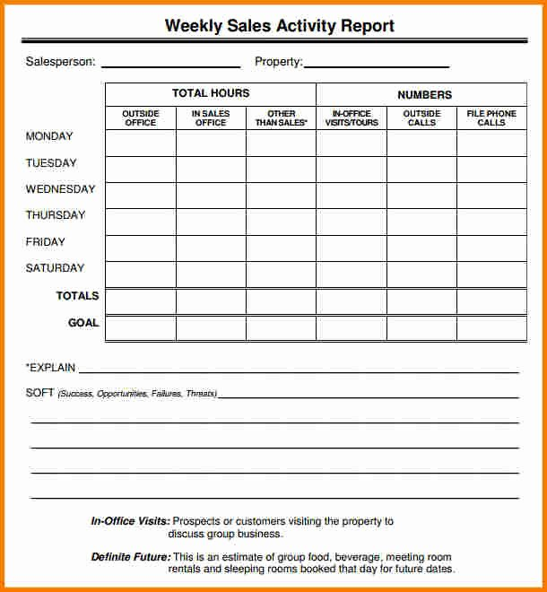 Weekly Sales Report Template Awesome Sales Report Template