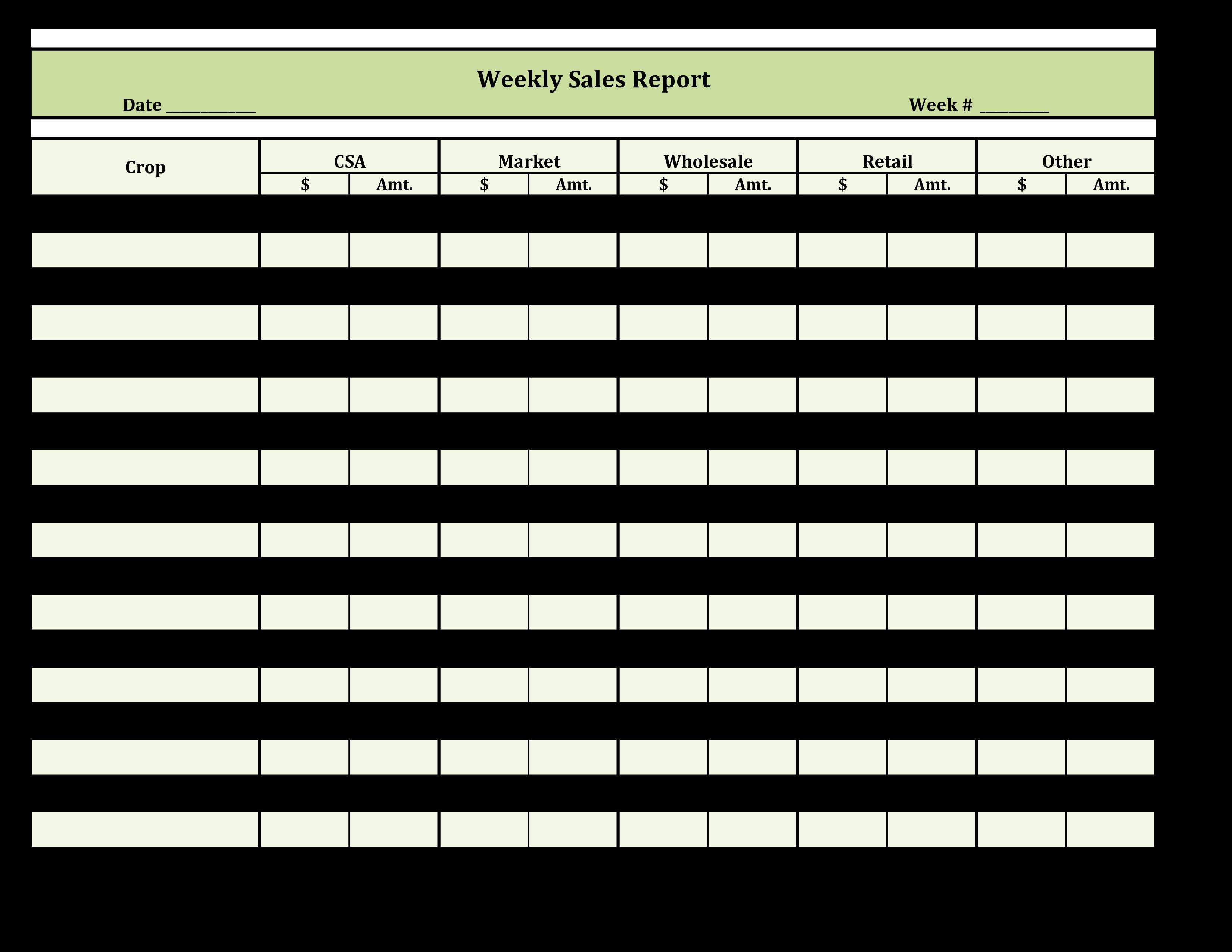 Weekly Sales Report Template Elegant Free Weekly Retail Sales Report