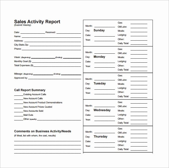 Weekly Sales Report Template Excel Awesome 13 Sales Report Templates