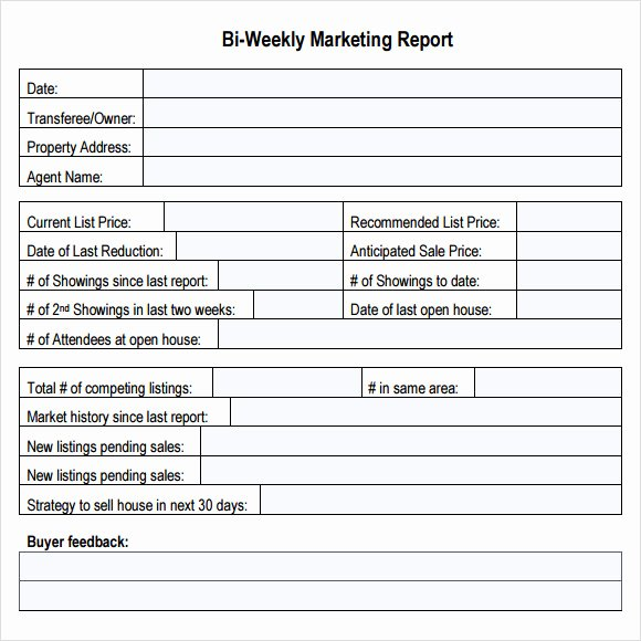 Weekly Sales Report Template Excel Fresh 14 Sample Marketing Report Templates
