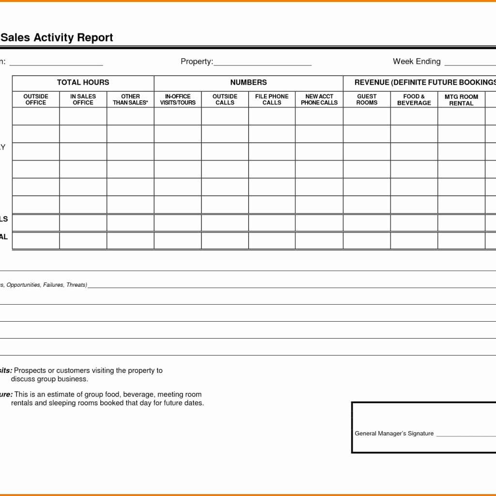 Weekly Sales Report Template Excel Luxury Sales Visit Report format Excel and Weekly Sales Call