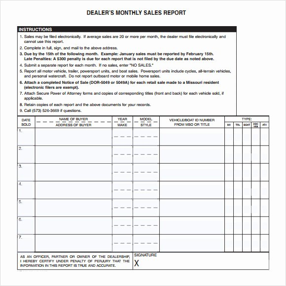 Weekly Sales Report Template Excel New 13 Sales Report Samples