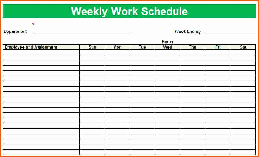 Weekly Staffing Schedule Template Awesome 8 Weekly Staff Schedule Template Bud Template Letter