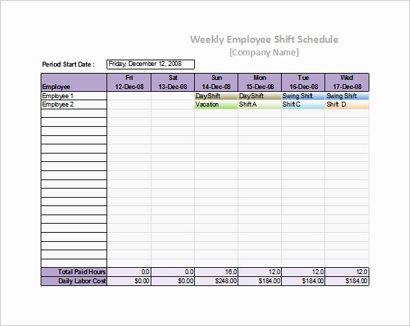 Weekly Staffing Schedule Template Best Of 55 Schedule Templates & Samples Word Excel Pdf