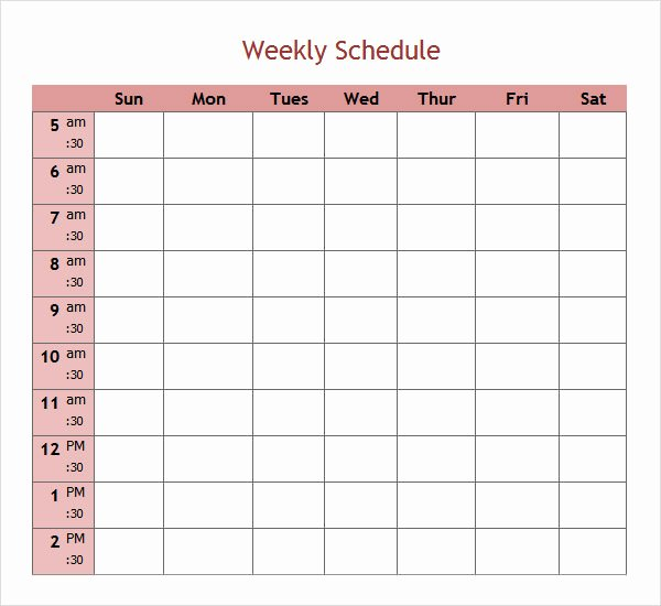 Weekly Staffing Schedule Template Fresh 7 Weekend Scheduled Samples