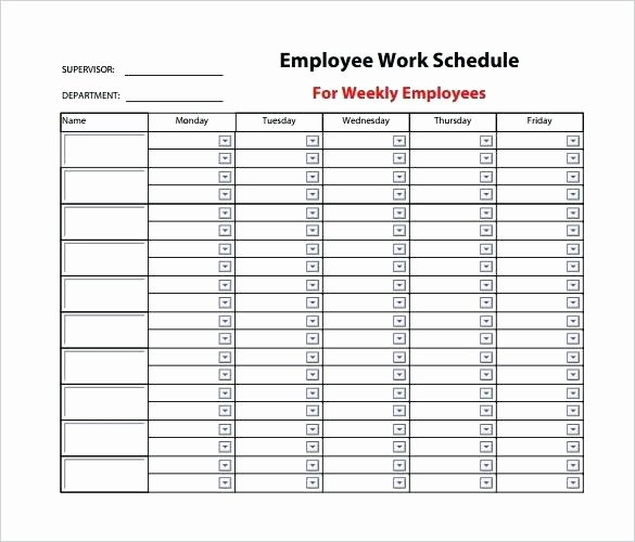 Weekly Staffing Schedule Template Inspirational Weekly Staff Schedule Template
