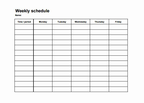 Weekly Staffing Schedule Template Unique Weekly Employee Shift Schedule Template Excel
