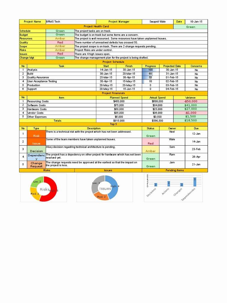 Weekly Status Report Template Excel Best Of Excel Weekly Status Report Template Doc